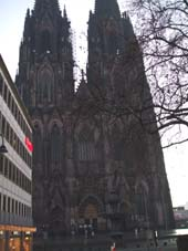 Cologne Cathedral and Ros Xmas Day meal