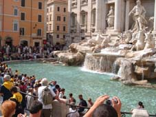 Trevi Fountain; view of Florence; St Marks and a busy canal